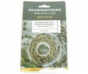 Камуфляжный скотч Savotta Elastic Bandage Camo 2,5x450 см