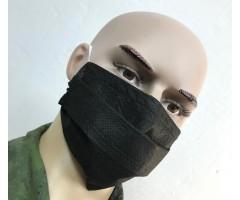 Защитная маска одноразовая 3-слойная (черная) 10 шт.