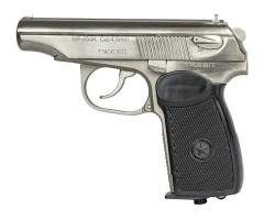 Пневматический пистолет Baikal МР-654К-24 (ПМ, никелир. затвор)
