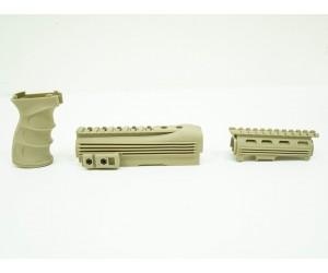 Тактический обвес (цевье с накладкой, пистолетная рукоятка) Cyma на АК-47 (C.49 TAN)