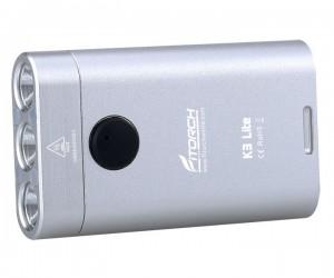 Фонарь-брелок FiTorch K3 Lite (USB зарядка, 3 светодиода, 550 лм) серебристый