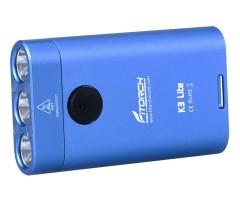 Фонарь-брелок FiTorch K3 Lite (USB зарядка, 3 светодиода, 550 лм) синий