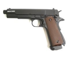 Страйкбольный пистолет KJW Colt M1911A1 TBC CO₂ GBB, удлин. ствол