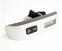 Весы электронные дорожные до 50 кг ± 10 г, термометр (BH-WP503)
