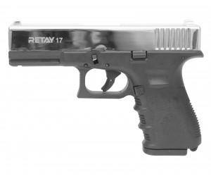 Охолощенный СХП пистолет Retay 17 (Glock) 9mm P.A.K, никель
