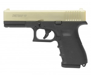 Охолощенный СХП пистолет Retay 17 (Glock) 9mm P.A.K, сатин