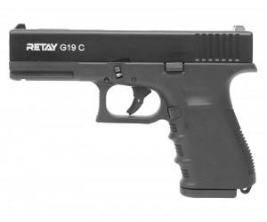 Охолощенный СХП пистолет Retay G19C (Glock) 9mm P.A.K