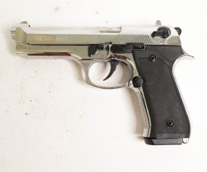 Охолощенный СХП пистолет Retay MOD92 (Beretta) 9mm P.A.K, никель