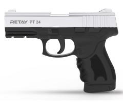 Охолощенный СХП пистолет Retay PT24 (Taurus) 9mm P.A.K, никель