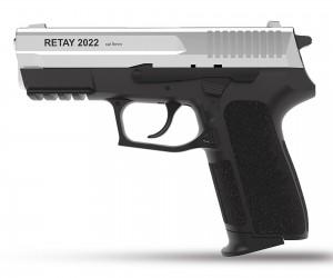 Охолощенный СХП пистолет Retay S2022 (Sig Sauer) 9mm P.A.K, никель
