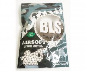 Шары для страйкбола BLS 0,45 г, 1000 штук (белые, Bio) 1BA-PLA45