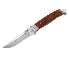 Нож автоматический Ножемир «Чёткий Расклад» Garm A-122W (дерев. рукоять)