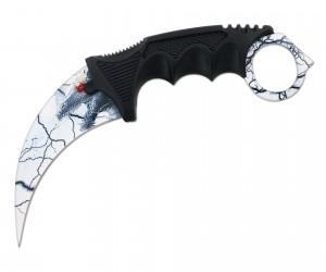 Нож керамбит «Ножемир» HCS-8 (из игры CS:GO) белый дракон