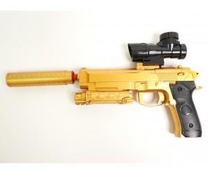 Пистолет бластер AngryBall M92 (Beretta) Gold