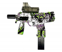 Пистолет-пулемет бластер AngryBall Steyr MP9