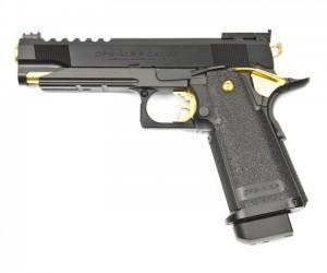 Страйкбольный пистолет Tokyo Marui Colt Hi-Capa 5.1 Gold Match GBB