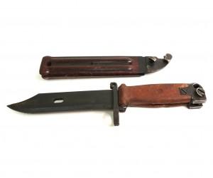 Тренировочный штык-нож АК 6x4 (бакелит. ножны и рукоять, резин. клинок) TA_TKN10