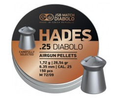 Пули JSB Hades Diabolo 6,35 мм, 1,72 грамм, 300 штук
