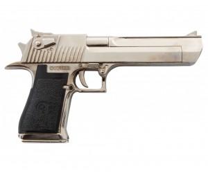 Макет пистолет Desert Eagle, никель (США-Израиль, 1982 г.) DE-1123-NQ