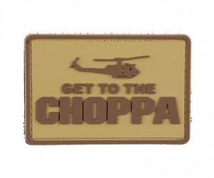 Шеврон Get to the chopper (Tan)