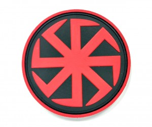 Шеврон Коловрат ПВХ (черно-красный)