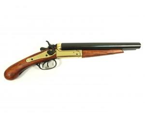 Макет двуствольный обрез ружья, латунь (США, 1868 г.) DE-1113