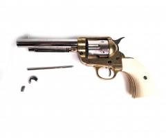 """ Уценка  Макет револьвер Colt Peacemaker .45, 5½"""", латунь, рук. под кость (США, 1873 г.) DE-1108-L (№ D7/1108L-134-уц)"""