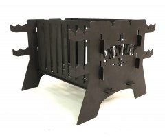 Мангал вертикальный Pnevmat24 Mini + сумка (сталь 2 мм)
