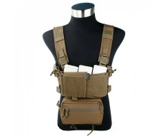 Разгрузочная система EmersonGear Micro Fight Chissis MK3 Chest Rig Coyote