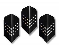 """Оперения для дротиков Stinger, 3 шт., светоотражающие, форма слим, рисунок """"ромбики"""""""