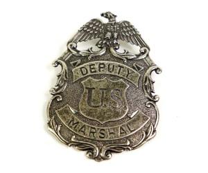 Значок Deputy U.S. Marshal с изображ. орла, никель (DE-112-NQ)