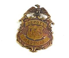 Значок Deputy U.S. Marshal с изображ. орла, латунь (DE-112-L)