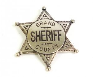 Значок окружного шерифа (шестиконечная звезда) никель (DE-113-NQ)
