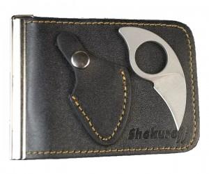 Зажим для купюр с ножом Shokuroff EDC «Коготь» (черный)