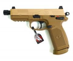 Страйкбольный пистолет Tokyo Marui FNX-45 Tactical GBB Tan