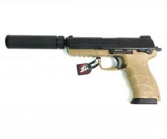 Страйкбольный пистолет Tokyo Marui HK45 Tactical GBB Black/Tan