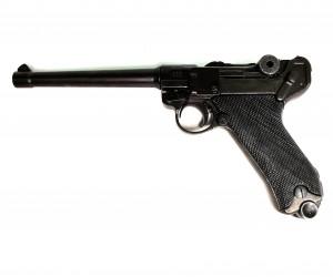 |Уценка| Макет пистолет Люгер Парабеллум P08 (Германия, 1898 г.) DE-1144 (№ D7/1144-152-уц)