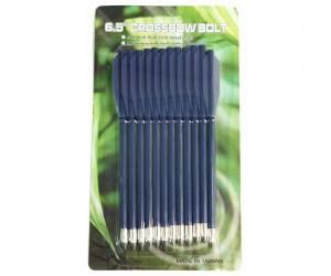 """Дротики для арбалетов-пистолетов пластиковые 6,5"""" (12 штук) синие"""