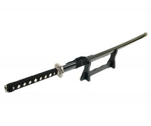 Самурайский меч Катана (черные ножны, гарда «серебр. солнце») D-50044-KA