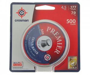 Пули Crosman Premier Super Match 4,5 мм, 0,51 грамм, 500 штук