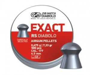 Пули JSB Exact RS Diabolo 4,5 мм, 0,475 грамм, 500 штук