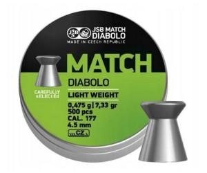 Пули JSB Green Match Diabolo Light 4,5 мм, 0,475 грамм, 500 штук