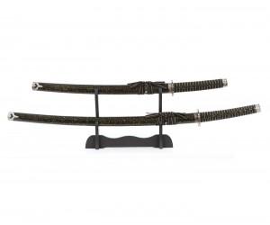 Самурайские мечи Катана и Вакидзаси (2 шт., ножны черный мрамор) D-50022-KA-WA