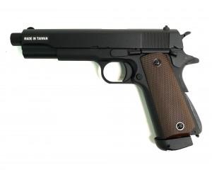 Страйкбольный пистолет KJW Colt M1911 M.E.U. TBC CO₂, удлин. ствол