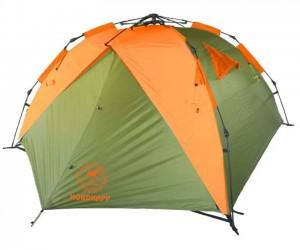 Палатка-автомат AVI-Outdoor Inker 3 green/orange, 310x220x120 см, 3-местная (5898)