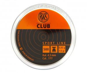 Пули RWS Club 4,5 мм, 0,45 грамм, 500 штук