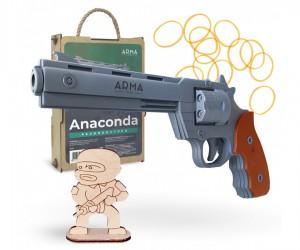 Резинкострел ARMA макет револьвера Colt Anaconda