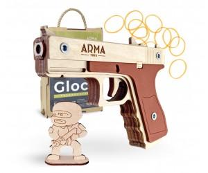 Резинкострел ARMA макет пистолета Glock