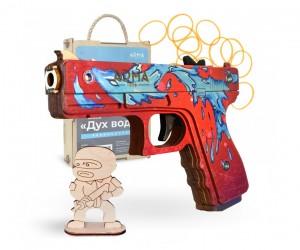Резинкострел ARMA макет пистолета Glock из игры CS:GO в скине «Дух воды»