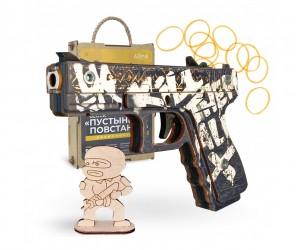 Резинкострел ARMA макет пистолета Glock из игры CS:GO в скине «Пустынный повстанец»